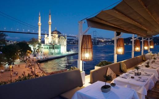 Blick von Restaurant Banyan auf Mecidiye Moschee