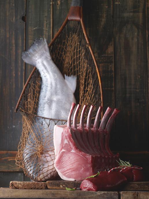 Fleisch, Fisch und Wild