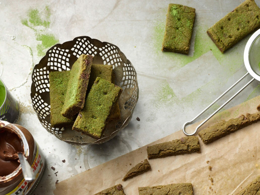 Nutella Matcha shortbread