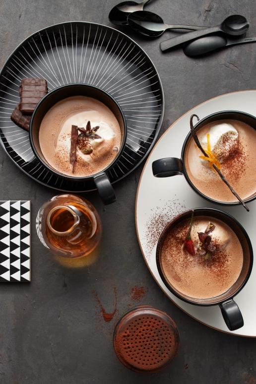 Würzig heiße Trink-Schokolade