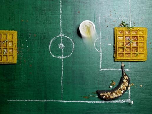 Banane Vom Grill Und Scharfe Moehren