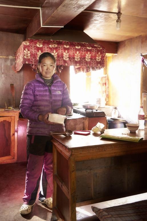 Nepalesische Köchin